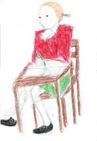 赤い服の少女